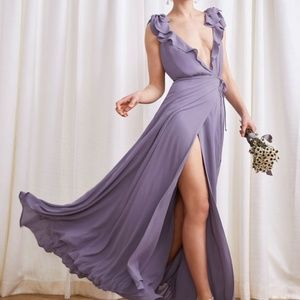 Reformation Peppermint Dress in Orchid